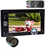 Power Acoustik PD-625B in-Dash 2-DIN 6.2' Touchscreen DVD Receiver with Detachable LCD and Bluetooth 4.0 with XO Vision HTC36 Backup Camera with Nightvision