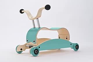 Wishbone Mini-Flip Mix & Match in Aqua - Baby Walker That Converts - 3-in-1 Walk, Scoot and Rock