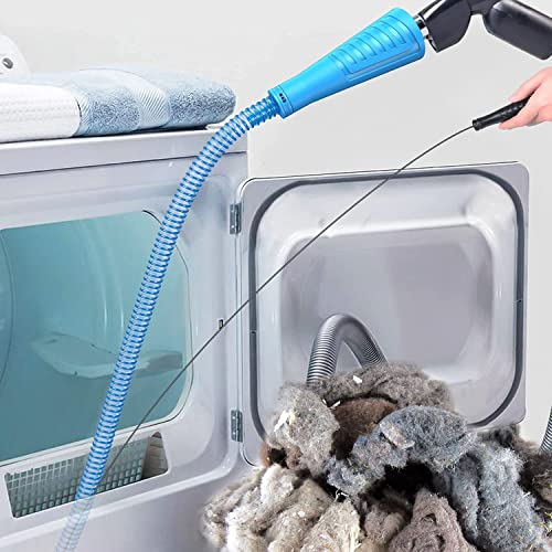 Sealegend V2 Dryer Vent Cleaner Kit Vacuum Hose Attachment Brush with Guide Wire Lint Remover Power Washer and Dryer Vent Vacuum Hose(33inch)
