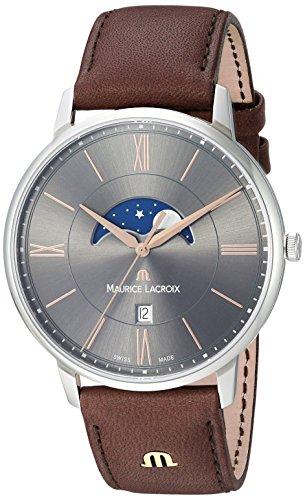 Maurice Lacroix EL1108-SS001-311-1 - Reloj de Pulsera Hombre, Color Marrón
