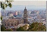 LFNSTXT Rompecabezas de la catedral de España de Málaga para adultos y niños, 1000 piezas, juego de rompecabezas de madera para regalos, decoración del hogar, recuerdos especiales de viaje