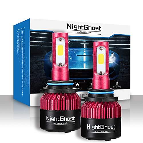 Nightghost 2019 - Juego de bombillas LED para faros delanteros 9006 72 W 9000 LM/set 6500 K blanco frío