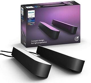Philips Hue Play White & Color Ambiance 2 Barras de Luz Led Lâmpadas, Compatível com Alexa
