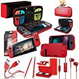 Switch Accessories Bundle - Orzly Essentials Pack for Nintendo switch Case & Screen Protector, Grip Case,...