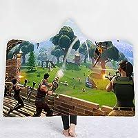 ZHUANYIYI 3Dデジタルプリントフード付き毛布クロークショールブランケットテレビソファーベッドカジュアルブランケット3Dプリントランチブランケットギフトブランケット (Color : 2)