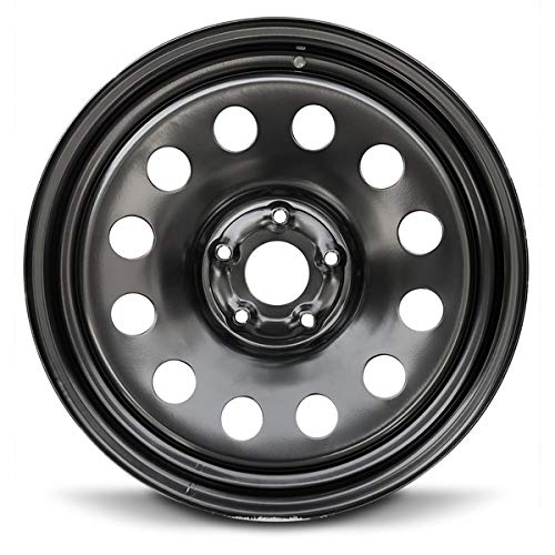 Road Ready Car Wheel For 2002-2008 Dodge Ram 1500 20 Inch 5 Lug Black Steel Rim Fits R20 Tire - Exact OEM Replacement - Full-Size Spare