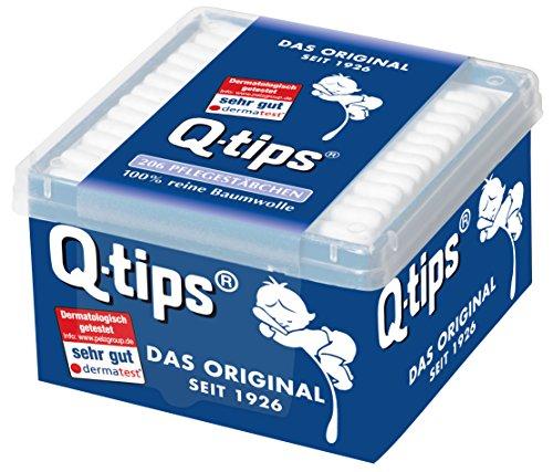 Q-Tips Pflegestäbchen / Wattestäbchen, 3er Pack (3 x 206 Stäbchen)