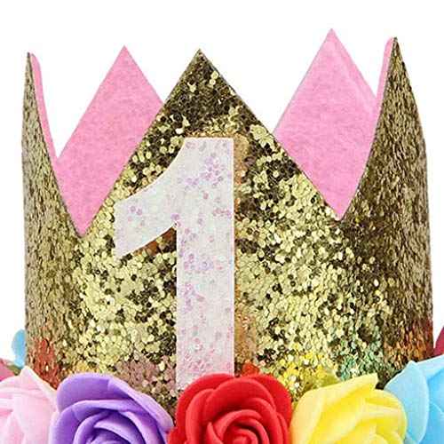 Sunlera Ragazza Ragazzo Festa di Compleanno del Bambino del Fiore la Protezione della Fascia 1/2 1 2 3 Anni Quanti Newborn Cappello di Compleanno