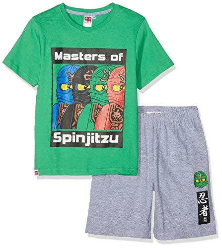 LEGO NINJAGO Jungen 5534 Zweiteiliger Schlafanzug, Grün, 128