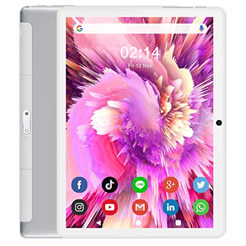 ANTEMPER Tablet 10 Zoll 5G WIFI Tablet,Quad Core,Android 8.1,16GB Erweiterbar Auf 128 GB,1280 x 800 IPSHD Touchscreen,6000 mAh Batterie,Dual-Kameras,WiFi/Bluetooth/GPS/FM(Weiß)