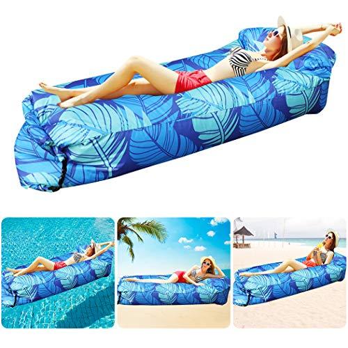 Bangcool aufblasbares Sofa wasserdichtes,aufblasbare Liege air Sofa tragbares aufblasbares Sofa Outdoor Camping Kinder und Erwachsene für Park, Strand, hinterhof Sofa-Blau