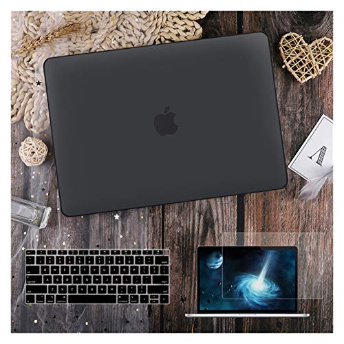 para MacBook Air 11 12 13.3'Cubierta Clara De Cristal para MacBook Air Pro 13 15 16 Touch Barra/Touch ID A2289 A2338 M1 A2159 (Color : Matte Black, Size : A2159 A1706 A1989)