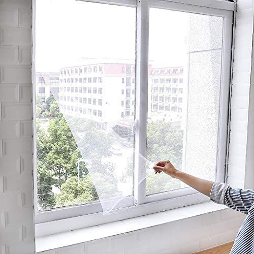 Linking Indoor Insekten Fliegengitter Moskito Netting Tür Fenster, Fliegenschutzvorhang, Insektenschutz, Fliegengitter Klettverschluss Fenster ohne Bohren Fliegenschutz(150 x 150cm)