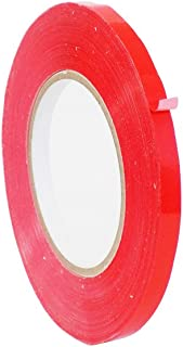 WOD UPVC-24BS Red Produce Poly Bag Sealing Tape (Also Available in Multiple Sizes & Colors): 3/8 in. x 180 yds. (Pack of 1)