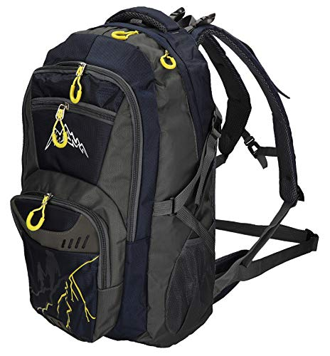 BETZ Backpack Womens Mens Travel and Hiking Backpack Camping Leisure Backpack Munich 4 Pockets Volume 37 litres with Wide Adjustable Shoulder Straps Color Dark Blue