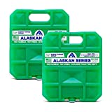 Arctic Ice Alaskan Series Reusable Ice Pack for Coolers, Lunch Boxes, Camping, Fishing, Hunting and More, Freezes at 33.8F (2-Pack) (1.5, Medium)