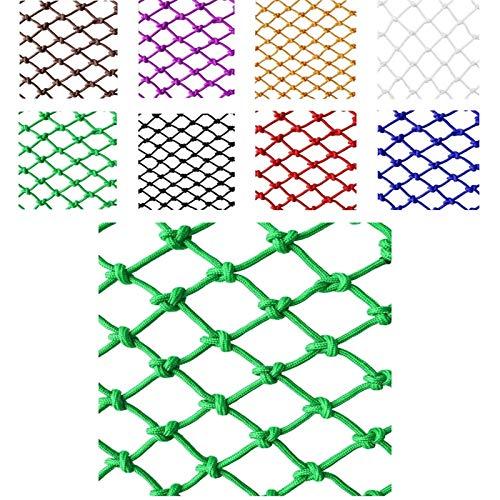 Malla Terraza Exterior Protección la Mascotas Los Nylon la Cerca la Aislamiento, Estructura Tradicional Tejida A Mano (Color: Verde) (Especificación: Cuerda 6 Mm, Agujero 5 Cm) Proteccion Niños