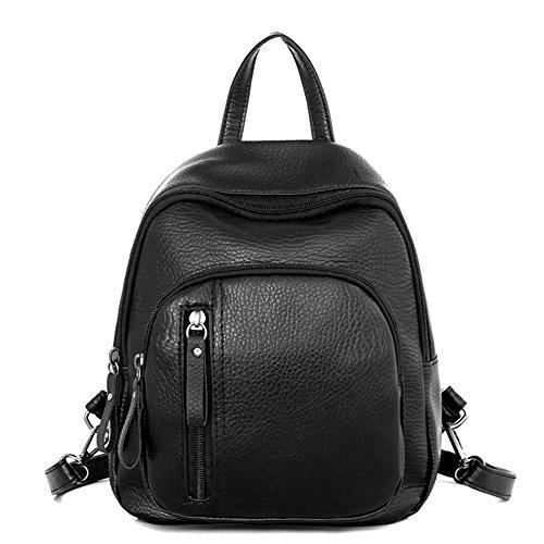.b Claasic Women PU Leather Mini Preppy Chic Backpack Casual School Bag
