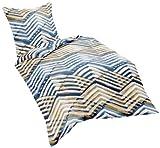 Fleuresse 113084–2Biancheria da Letto in Cotone makò Satinato, 155x 220cm, Colore Blu Notte