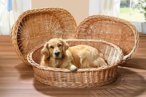 Hundekorb aus Vollweide, Gr. XL, 90x70 cm