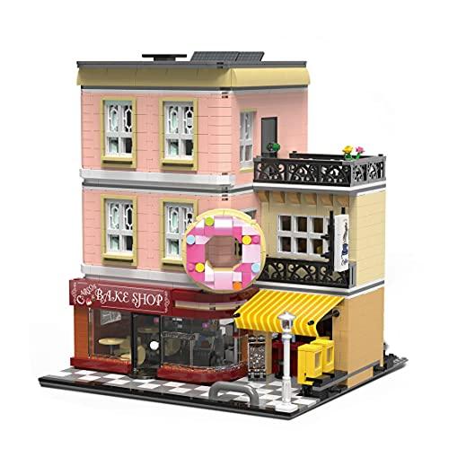 UrGe 10180 Bake Shop Bausatz, 2919 Stück Street View Serie Kreativer Spannblock Bausatz Modellbausatz, Kompatibel mit Lego House