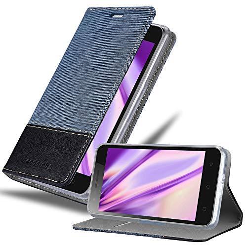 Cadorabo Hülle für Lenovo C2 in DUNKEL BLAU SCHWARZ - Handyhülle mit Magnetverschluss, Standfunktion und Kartenfach - Case Cover Schutzhülle Etui Tasche Book Klapp Style