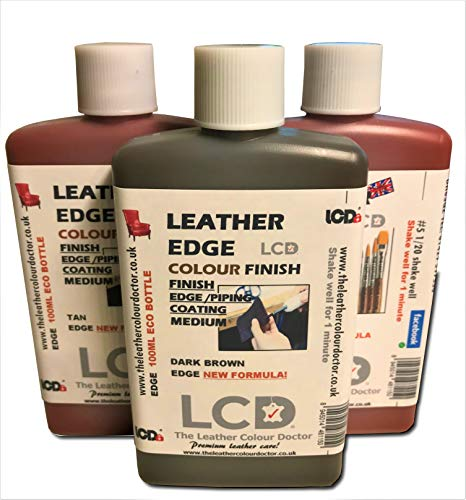 Acabado de pintura para borde de cuero, tinte de cuero, colorante para manualidades, acabado de capa de borde, 100 ml 100 ml negro intenso
