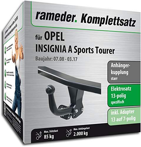 Rameder Komplettsatz, Anhängerkupplung starr + 13pol Elektrik für OPEL Insignia A Sports Tourer (143083-07861-1)