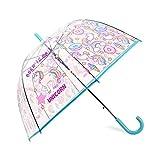 Parapluie Licorne Transparent Dôme Bulle Parapluie Semi-Auto Apollo Birdcage Parapluie Convient aux Enfants et Filles (Bleu)