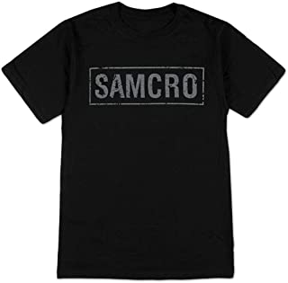 Sons of Anarchy SAMCRO Banner Black Adult T-shirt Tee
