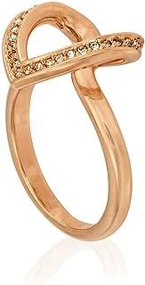 Swarovski Cupidon Ring, Rose Gold-Tone - Size 7