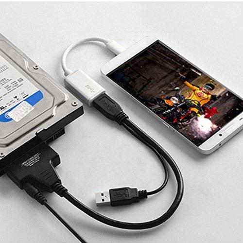 Poppstar USB 3.1 Gen 1 Type A adaptateur de disque dur SSD HDD 2,5 et 3,5 pouces vitesse de transfert de jusqu/à 5 Go//s soutien UASP longueur du c/âble 1m