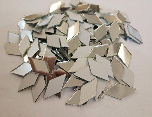RUIXUAN Mosaikfliesen, Diamant-Form, Spiegelglas, Heimdekoration, Basteln, Zubehör