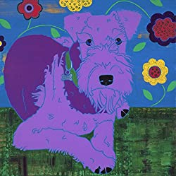 image of modern Airedale Art Print