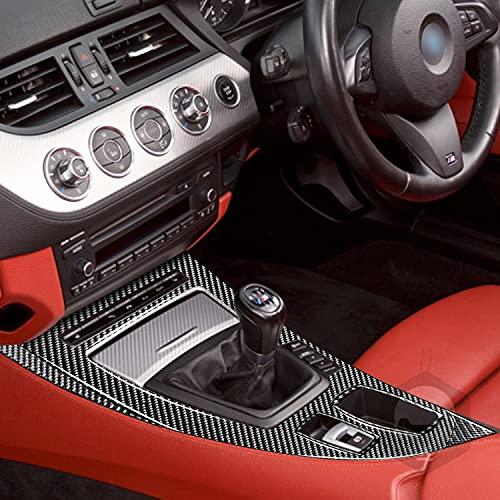 Accesorios de fibra de carbono 5 unids marco de engranajes etiqueta cubierta negro decoración para BMW serie Z Z4 E89 2009-2016 Kit de cambio de marchas automático/manual (RHD)
