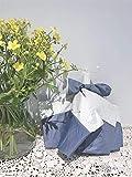 YSVSPRF Paraguas Paraguas Creativo Personalizado Tri Pliegues Impermeable Resumen Paraguas niña Regalo Protector Solar UV PROTECCIÓN Parasol para Mujeres (Farbe : Manual Blue)