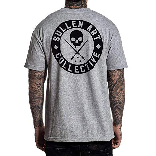 Sullen Men's Classic Short Sleeve T Shirt Heather Gray-L