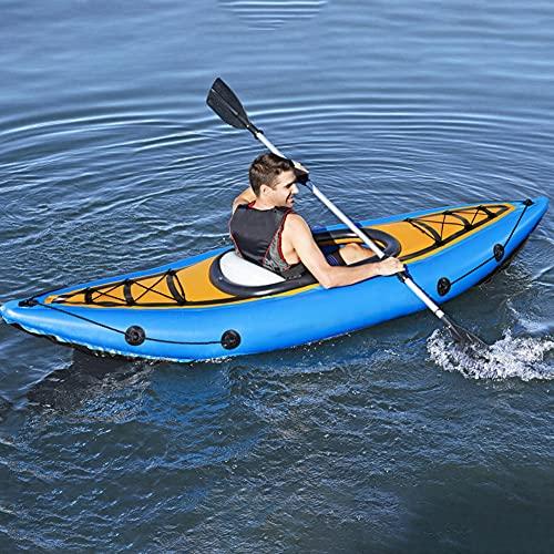 LHYCM Canoa Inflable para Bote, Kayak Deportivo Inflable Portátil De 9 Pies con Cuerda De Bomba/Paletas para Adultos Y Niños, Bote De Pesca Portátil