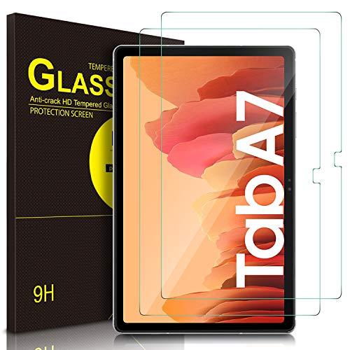 ELTD Bildschirmschutzfür Samsung Galaxy Tab A7, Ro&ed Corners 2.5D, 9H Festigkeit, gehärtetes Bildschirmfolie Schutzglas für Samsung Galaxy Tab A7 2020 10.4 Zoll (2 Stück)