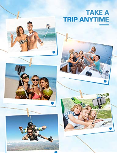 Bluetooth Selfie Stick, Mpow Extendable Monopod Clamp Phone Holder with Wireless Remote for Travel Family Photos-Compatible for iPhone 11/11 Pro/ XS/XR/XS Max/8/8 Plus/7/X Plus/6s, Galaxy S10/S9/8/7