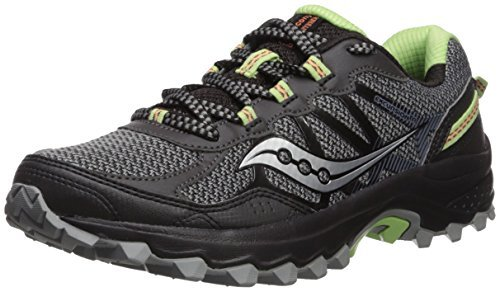 Saucony Women's Excursion TR11 Running Shoe, Black/Lime, 8 Medium US