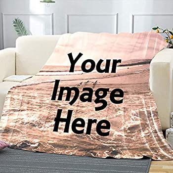 Custom Blanket Personalized Blanket with A Photo Milestone Blanket Put Your Love Photo On Blanket  W30 X L40
