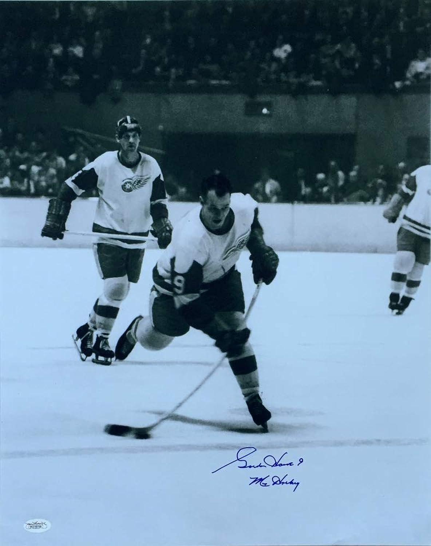 Gordie Howe Signed Red Wings 16x20 Photo Inscribed Mr. Hockey (JSA COA)