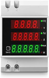 KETOTEK Voltímetro Amperímetro Digital AC 80-300V/100A Medidor de Voltaje Corriente Potencia Energia Electrica Medidor de ...