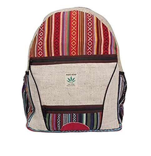 Rucksack aus Hanf, cultbagz Nepal Hand Made, bagpack Multi Stripes