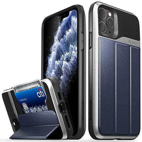 VENA Cover per iPhone 11 PRO Max, vCommute (Military Grade, Card Slot) Flip Portafoglio Custodia Case Protettiva Pelle con Kickstand per Apple iPhone 11 PRO Max (6.5'-inch) - Blu