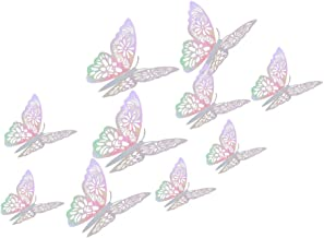 Airssory 12 Pcs 3-Sizes 3D Hollow Butterflies Wall Stickers Decals for Removable Decal Art Party Decoration Home Decor - 8...