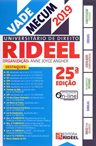 Vade Mecum Universitário de Direito Rideel 1º Semestre 2019