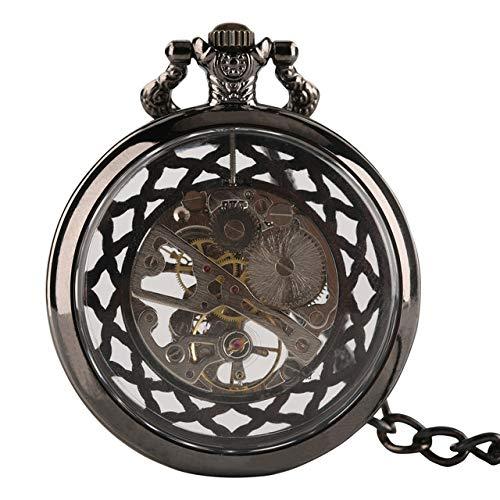 Reloj de Bolsillo Vintage Reloj de Bolsillo mecánico con Cara de Cadena de Reloj de Bolsillo y Hermoso Regalo de Reloj Colgante para Hombres
