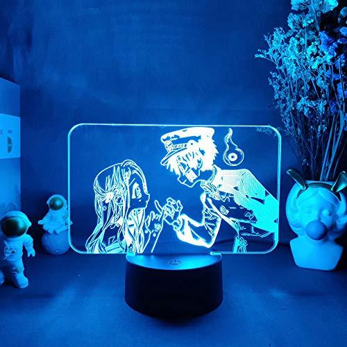 Lámpara de escritorio 3D Anime Toile Hanako Kun Kun Figuriner lámpara para dormitorio escritorio decoración LED lámpara de mesa de regalo de cumpleaños Otaku 7 colores Touch MDJK